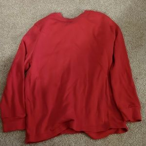 Red long sleeve shirt. Size 6/7